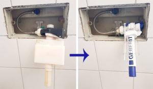 Geberit Spülkasten reparieren: Wasser läuft nach und andere Fehler beheben