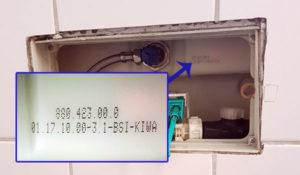 Modell- und PA Nummer von Geberit Spülkasten herausfinden (für die Ersatzteilermittlung)
